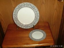 SANGE CHINA 1 DINNER PLATE AND 1 BREAD AND BUTTER PLATE PATTERN SPANISH LACE