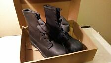 NEW Addison Army Leather Combat Boots Black Steel Toe - Mens 13W