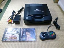 SNK NEO GEO CD Console System and game soft SET Tested Work