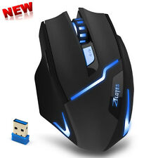 2.4G Wireless 2400DPI LED Adjustable Optical Gaming Mouse For Laptop PC Gamer