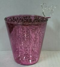 Yankee Candle Purple Glass Bird Votive Holder New !