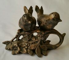 Vintage heavily tarnished silver plated bird salt & pepper shakers  signed M. B.