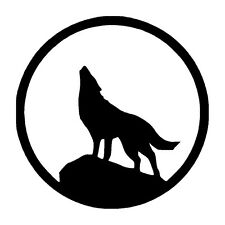 Wolf Howling Vinyl Graphic Decal Car Window Sticker...Unique...Must Have