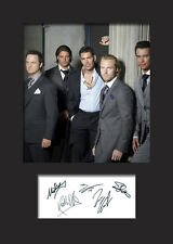 BOYZONE A5 Signed Mounted Photo Print - FREE DELIVERY
