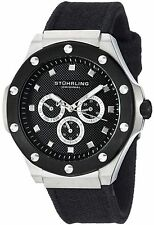 NEW Stuhrling 160C2.33DOB1 Men's Special Reserve Neo Apocalypse Watch Black SS