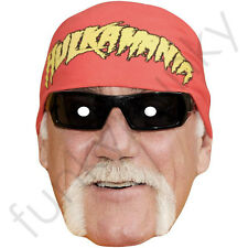 Hulk Hogan WWE American Celebrity Actor Card Mask - All Our Masks Are Pre-Cut!