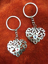 "love you forever""print heart shape design lover's lovers' car key chains keyri"