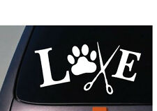 "LOVE TO GROOM 6"" Sticker Animals Dogs Pet Vinyl Decal Wash Cut Hair Bath Nails"