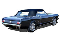 Ford mustang Convertible Soft Top Replacement & Plastic window 1964-1966 BLACK
