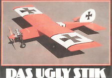 "Model Airplane Plans (RC): DAS UGLY STIK 60"" for .40-.60 w/Assembly Instructions"