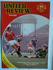 1980/81 Manchester United v Tottenham Hotspur 1st Division with Token