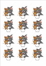 Novelty Tom & Jerry Edible Cake Cupcake Toppers Decorations Birthday Cartoon Fun