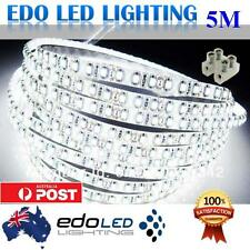 Waterproof Cool White 600 LED DC 12V 5M 3528 SMD Leds Strip Light with connector