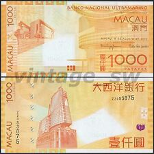 2010 MACAU BNU 1000 PATACAS P-84 UNC *REPLACEMENT*