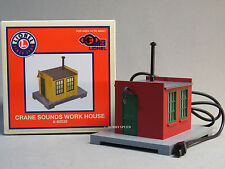 LIONEL PLUG N PLAY CRANE SOUNDS WORK HOUSE O GAUGE scenery train 6-82035 NEW
