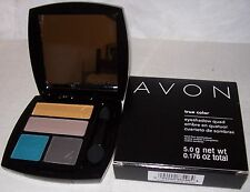 AVON! True Color Eyeshadow QUAD! SAVAGE BEAUTY. Fashionable Earthy Colors. NEW!