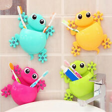 Home Bathroom Toothbrush Holder Wall Mount Suction Cup Toothpaste Storage Rack G