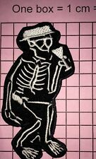 #730Social Distortion Skeleton Dancing Punk Rock Music Embroidered Iron On Patch