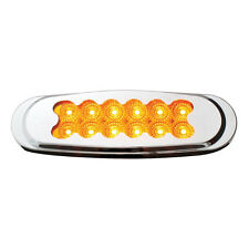 Amber Matrix Style Ultra Thin Spyder 12-LED Marker Light with Chrome Bezel