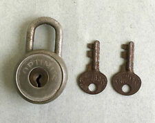VINTAGE OPTIMUS PADLOCK Made in Sweden lock antique