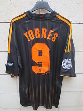 Maillot CHELSEA Adidas shirt TORRES n°9 Champions League noir XL camiseta patch