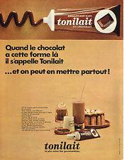 PUBLICITE  1968   MONT BLANC  TONILAIT  pate à tartiner au chocolat