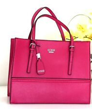 NWT GUESS Bellingham Satchel Handbag Shoulder Bag Purse Cherry VY624922 $148