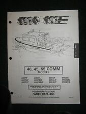 1995 Johnson Evinrude Outboard Parts Catalog Manual 40 45 55 HP Commercial COMM