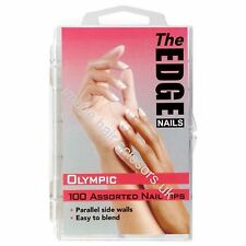 The Edge OLYMPIC Nail Tips 100 Assorted Nails Tips Mixed Sizes Easy To Blend