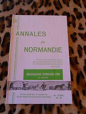 ANNALES DE NORMANDIE - 36e année, N° 5 - Décembre 1986 - Bibliographie