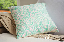 Aqua Aztec Cushion Cover Throw Pillow Case Home Decor 100% Cotton 45cm Kibui