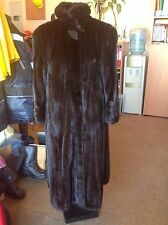 SAGA MINK FUR COAT WITH LARGE SABLE COLLAR MINT CONDITION M-L