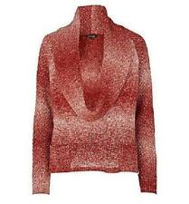 River Island Red Ombre Cowl Neck 12 Red/Multi