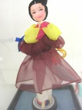 Korea Vintage Lovely Young Woman Maiden Hand Painted Face,Hanbok Silk, Case