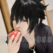 TT-1006 Naruto Sasuke Uchiha Short Layered Black Cosplay Anime Hair Wig
