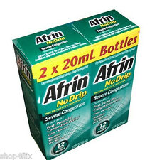 Afrin No Drip Severe Congestion Pump Mist Nasal Spray 2 x 20 ml Bottle