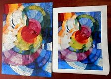 1965 SPRINGBOK Jigsaw Puzzle w/ POSTER - DISKS OF NEWTON by FRANK KUPKA  (as is)