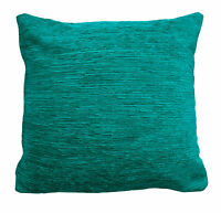 "Plain Chenille Cushion Covers / Filled 18""x 18"" Heavyweight but Soft Scatter"
