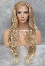 Heat Safe French Lace Front WIG Long Wavy Strawberry Blonde  WBKM 27-613