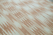 Fine Ikat Cotton Light Hand-Woven Hand-Dyed Beige Fabric. Artisan. India Sewing