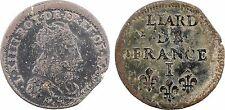 Louis XIV, liard, Limoges 1655, RARE - 130