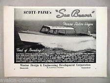 Scott-Paine's Sea Beaver Boat PRINT AD - 1948 ~~ Marine Design & Engineering