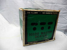 Vintage IGLOO Heater Canadian Tire CTC Catalytic Outdoor Sports Ice Fishing