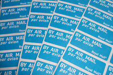 720 AIRMAIL (ROYAL MAIL: BRITISH) STICKERS / LABELS, NEW & FREE SHIPPING