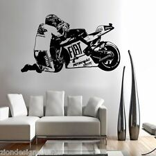 V ROSSI 46  WALL ART 01 motorcycle racer decal graphic adhesive UNIQUE