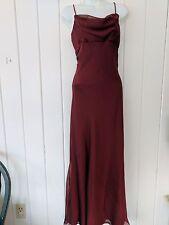 Morgan & Co. Burgundy Bias Cut Sheer Gown Size 7/8