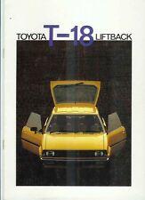 1980 TOYOTA KE70 T-18 COROLLA LIFTBACK Australian Market Brochure