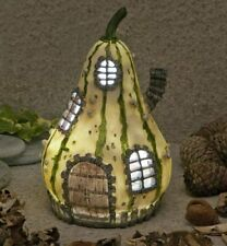 NEW SOLAR LED FAIRY HOUSE / SQUASH HOUSE /LED LIGHT /FAIRY GARDEN HOUSE