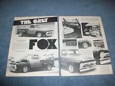 "1955 Ford F100 Pickup Vintage Custom Truck Article ""The Grey Fox"""