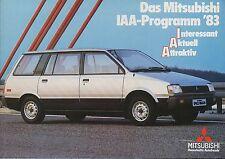 Mitsubishi IAA Programm 1983 Prospekt brochure Auto PKWs Japan Asien Broschüre